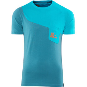 La Sportiva Climbique T-Shirt Men Lake/Tropic Blue